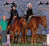Susan Abernethy and Rocky Top Quest, Judy Rich and Hit Invitation, Top 10 Trail, 2012 Appaloosa Nationals